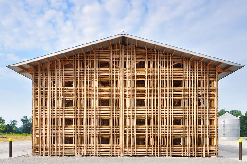 Il bambù sostituisce i materiali edilizi